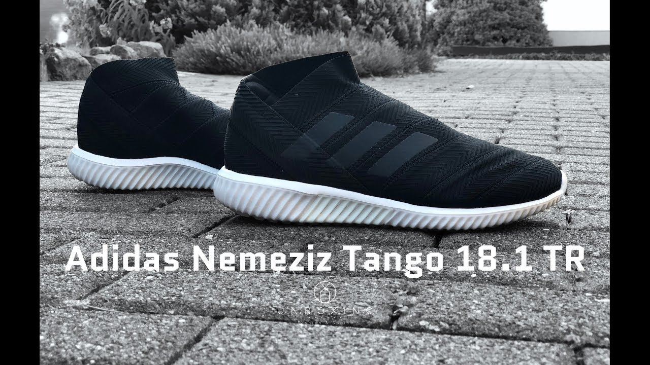 quality design 5bd90 13a6f Adidas Nemeziz Tango 18.1 TR  Shadow Mode Pack    UNBOXING   ON FEET    fitness   fashion shoes   4K