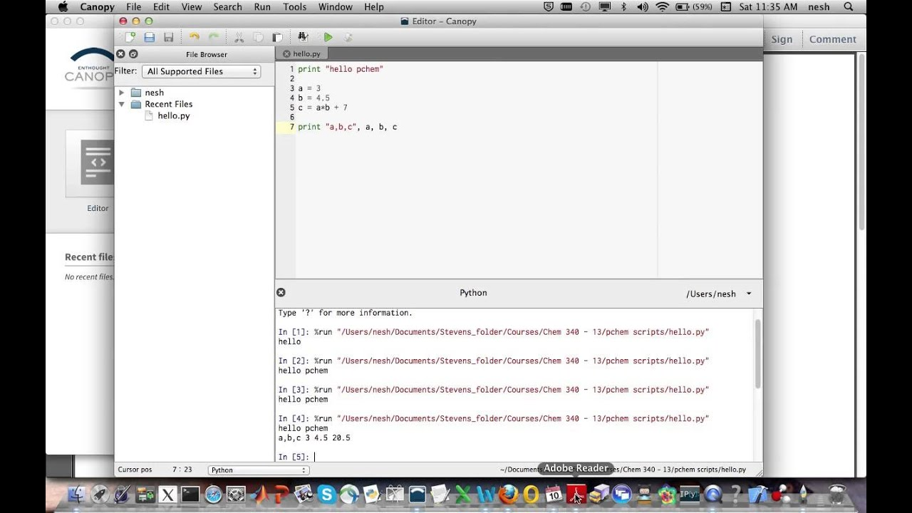 Getting started with Numpy in Canopy Mac)  sc 1 st  YouTube & Getting started with Numpy in Canopy Mac) - YouTube