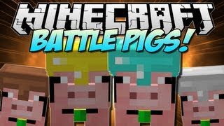 Minecraft | BATTLE PIGS! (Pig Companions!) | Mod Showcase [1.5.1]