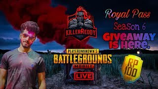 PUBG MOBILE ll INDIA LIVE(GIVEAWAY) ll SUBSCRIBER GAMES