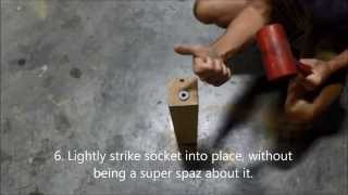 How to Attach Casters: Wood Legs