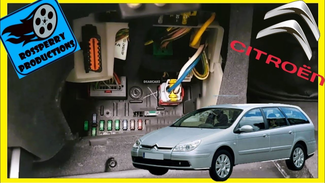 citroen c5 mk2 2008 9 obd2 diagnostics port fusebox location fuse diagram [ 1280 x 720 Pixel ]