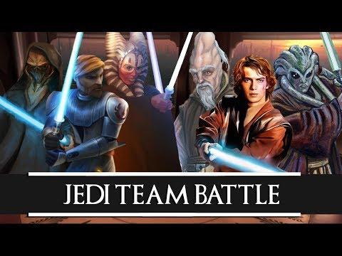 Versus Series: Plo Koon + Obi Wan Kenobi + Shaak Ti VS Ki Adi Mundi + Anakin Skywalker + Kit Fisto