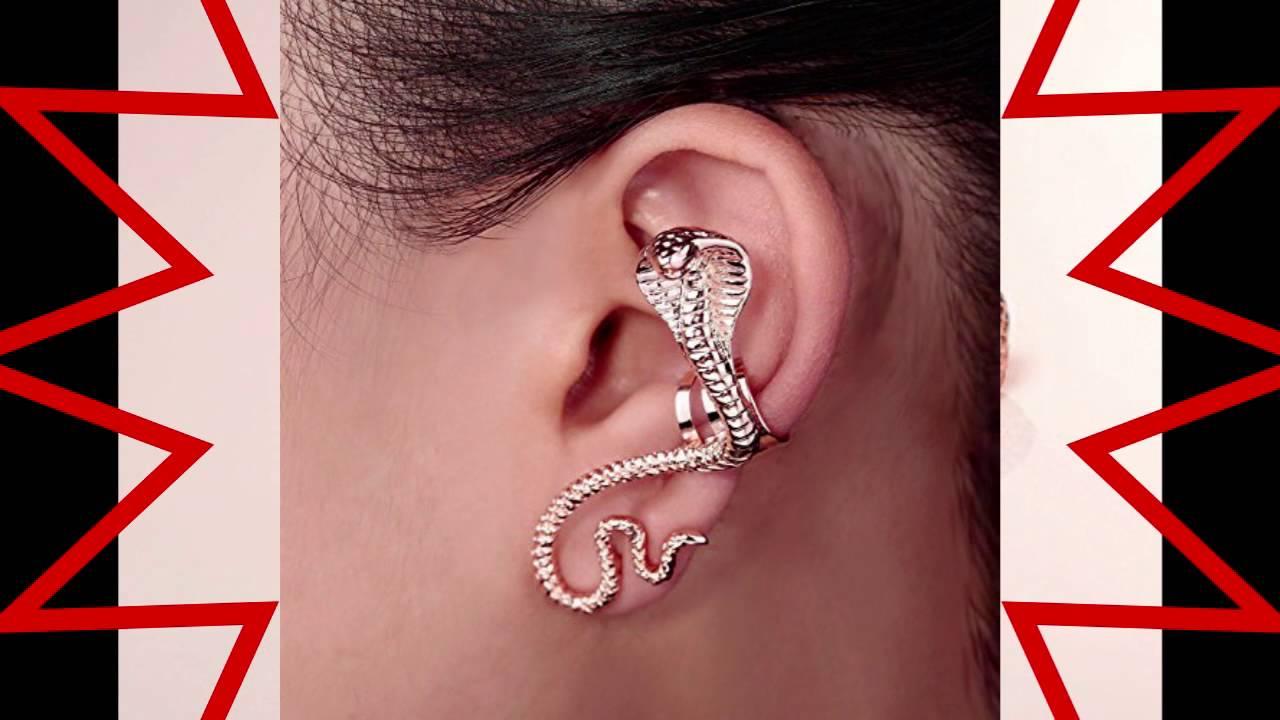 Okajewelry Snake Ear Cuff Cartilage Left Ear Serpent Wrap Earring