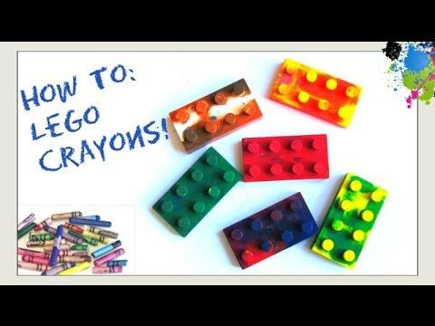 Make Lego CrayonsHow to Recycle  Melt Broken CrayonsMake