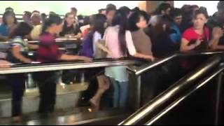 Overcrowded MRT in Singapore