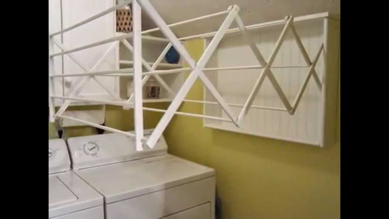 Wall mounted drying rack by optea-referencement.com - YouTube