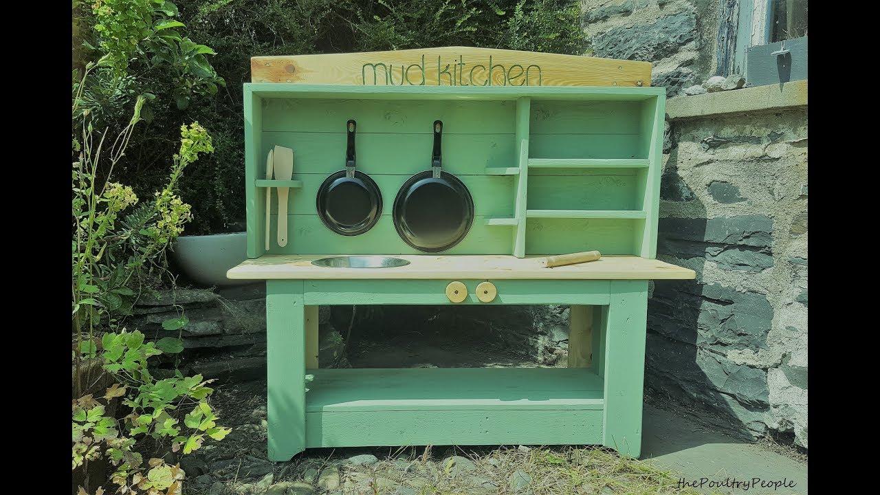 Diy mud kitchen pallet project garden ideas