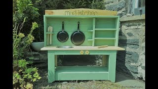 DIY Mud Kitchen - Pallet Project garden Ideas