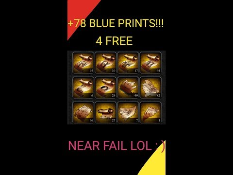 Clash Of Kings - How To Get 78 Blue Prints 4 FREE!!😱 Near EPIC FAIL🤫 😅🤔