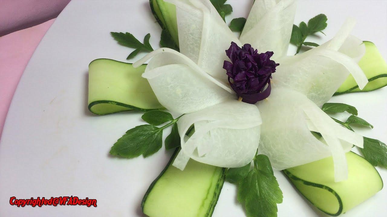 Matchless Purple Cabbage Rose Sitting On White Radish Flower With