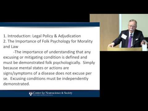Dr. Stephen Morse presents Addiction, Choice, and Criminal L