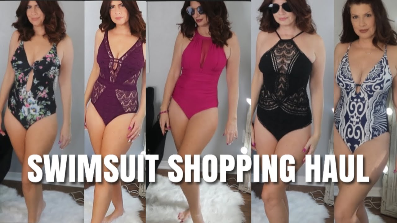 c6e05f27548 SWIMSUIT SHOPPING HAUL TRY ON FASHION OVER 50 - YouTube
