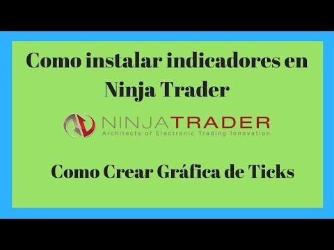 Como instalar Indicadores en Ninjatrader 7 ✔- Crear Gráfica de ticks 📈