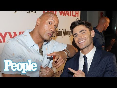 Dwayne Johnson Vs. Zac Efron: Baywatch's Ilfenesh Hadera & Kelly Rohrbach Talk | People NOW | People