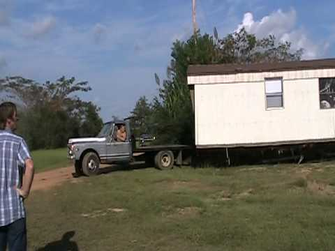 Dodge Truck. Chevy Truck Pulls House Trailer Video 3