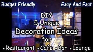 Diy Wall Decoration Ideas For Restaurant Cafe Bar Lounge