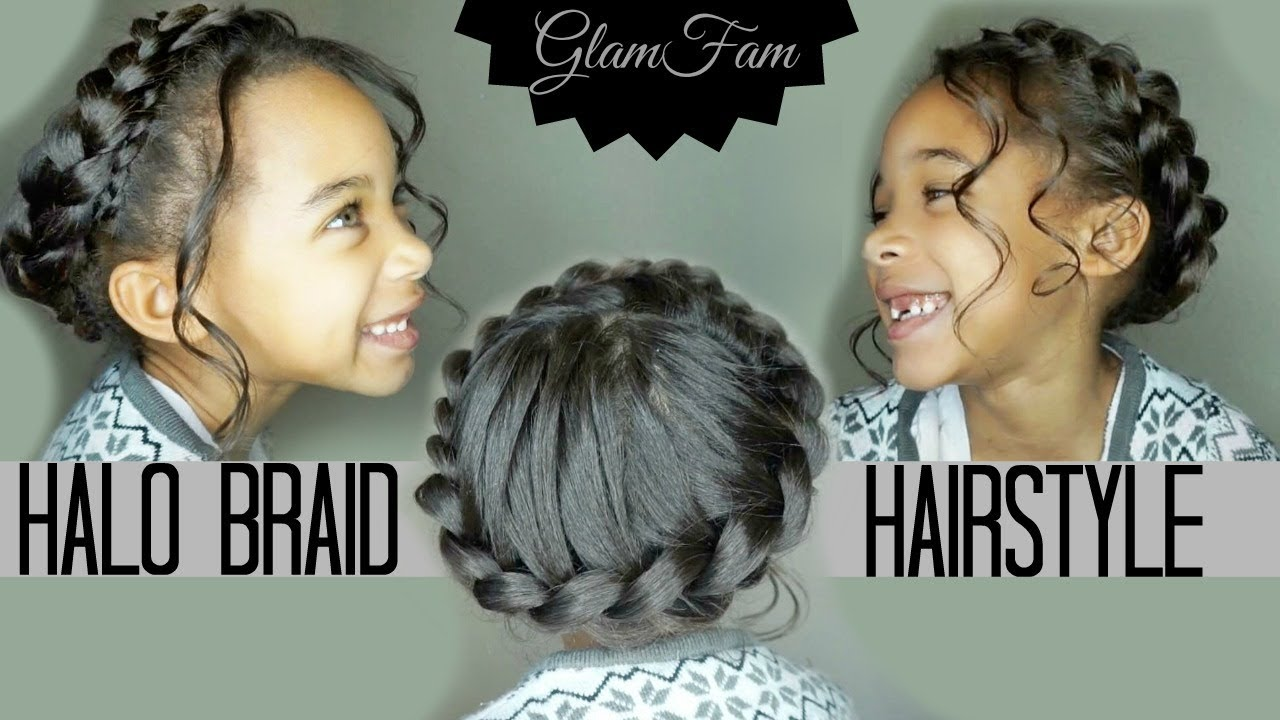 children's halo braid (for the father daughter dance!) | children's hairstyles