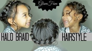 Children's Halo Braid (For the Father Daughter Dance!)   Children's Hairstyles