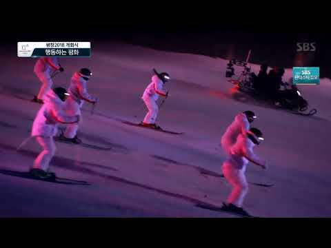 Amazing PyeongChang Olympics opening Ceremony (1218 Intel Drone + KT 5G Technology)
