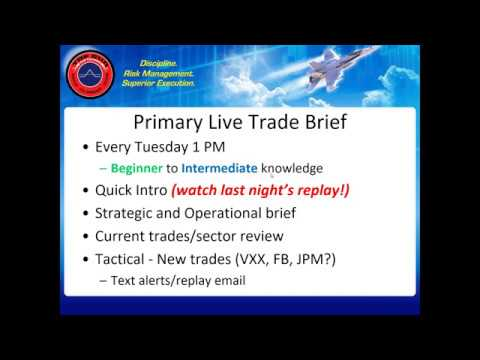 Primary Live Trade Brief, FANG Implosion Review & New RTN Spread