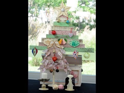 Como pintar madera efecto decapado arbol de navidad en madera adornos para el arbol youtube - Arboles de navidad de madera ...