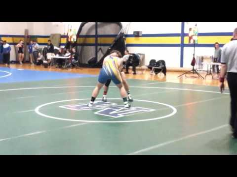 John Lawson match @ Blue Hen vs Appoquinimink Lost by Pin  2/18/17