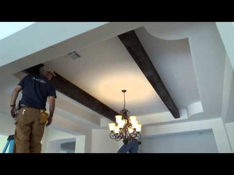 How to Install Faux Wood Ceiling Beams