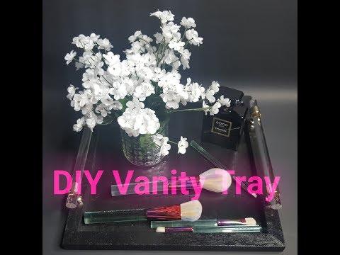 DIY Vanity Tray #diyvanitytray