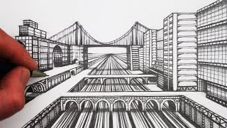 How to Draw 1-Point Perspective: Step by Step