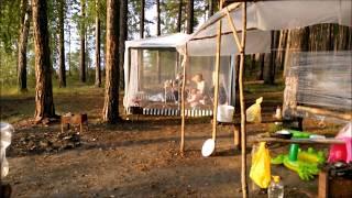 ПЕРВЫЙ ДЕНЬ НА ОБСКОМ ставим палатки ,купаюсь ,жарим шашлычек и прыгаем через костер.(, 2016-07-26T17:28:35.000Z)