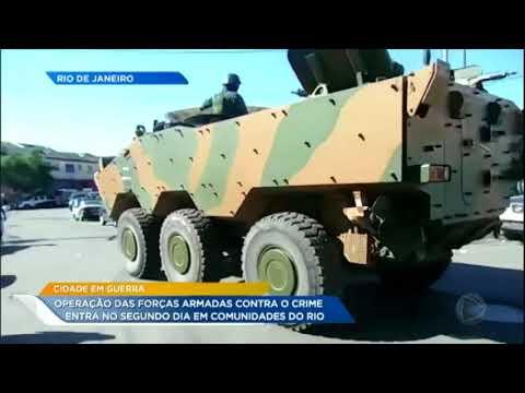Operação das Forças Armadas no RJ entra no segundo dia