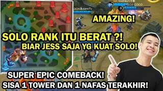 Download Video SUPER EPIC COMEBACK! SOLO RANK ITU BERAT?! BIAR JESS NO LIMIT SAJA KUAT YG SOLO RANK! MP3 3GP MP4