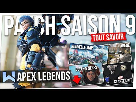 Apex Saison 9 :  Notes de Patch OFFICIELLES ! Tout Savoir (Arène, Buff, Nerfs, Valkyrie...)