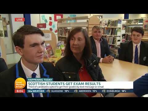 Scottish Students Reveal Their Exam Results | Good Morning Britain