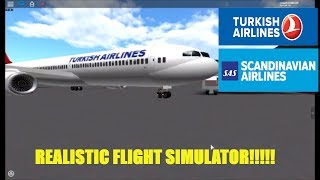 Roblox [6]: Flying a SAS CRJ900 and Turkish Airlines A330 (A place with Airliners)