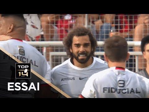 TOP 14 - Essai Yoann HUGET (ST) - Lyon - Toulouse - J1 - Saison 2018/2019