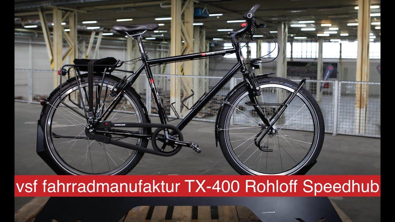 vsf fahrradmanufaktur tx 400 rohloff speedhub 2016 youtube