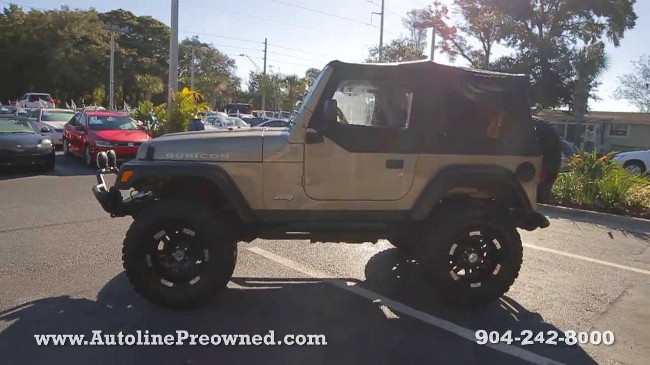 autoline preowned 2004 jeep wrangler rubicon for sale used review jacksonville youtube. Black Bedroom Furniture Sets. Home Design Ideas