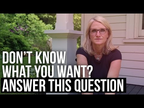 Don't Know What You Want? Answer This Question #MelRobbinsLive
