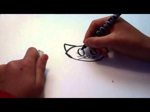 Dessiner un chat facon cartoon - Tutoriel dessin BD: Apprendre à dessiner un chat cartoon