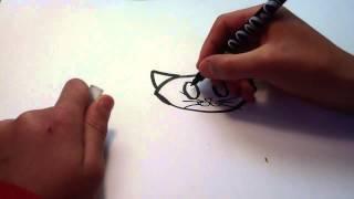 Zeichnen sie eine katze und weise-cartoon - Tutorial zeichnung BD: Lernen, zeichnen sie ein cartoon-katze