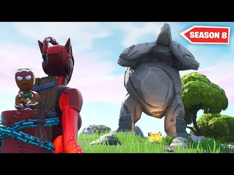 The Fortnite Rock Statue is MOVING..