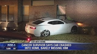 Car crashes into Dallas home, barely misses sleeping homeowner