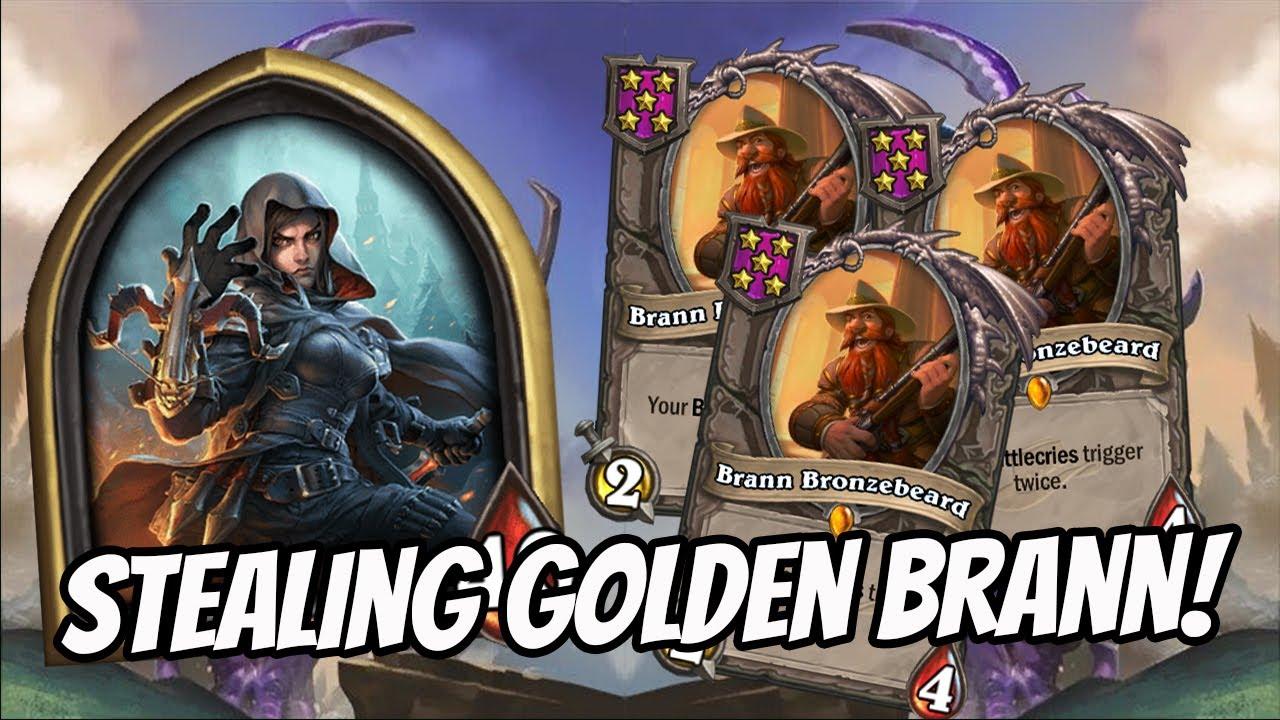 TESS IS THE BEST?! STEALING A GOLDEN BRANN??? | Hearthstone Battlegrounds