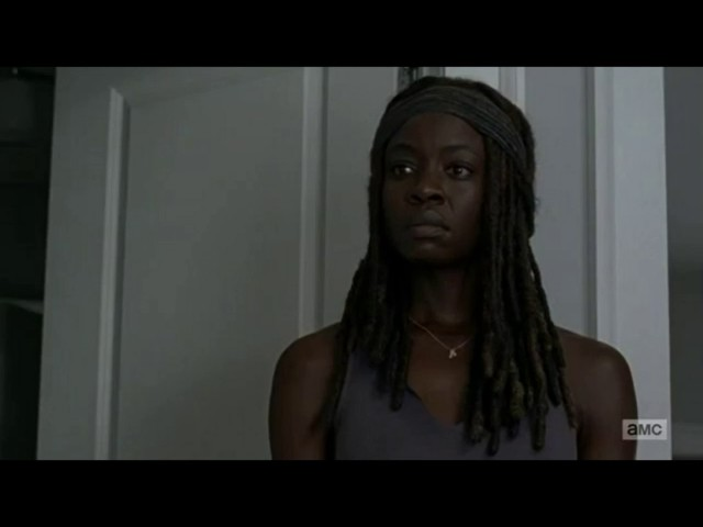 The Walking Dead 7x04 Rick Tells Michonne That Judith Isnt His Child