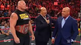 Brock Lesnar returns Raw for   announcement  SummerSlam !!
