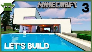 Minecraft Lets Build a Modern House -