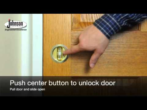 The Johnson Hardware 174 Pocket Door Lock Youtube