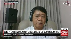 Army: Lapses found in crime scene of Jolo shooting